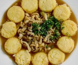 resepi-fried-egg-tofu-with-shimeji-mushroom