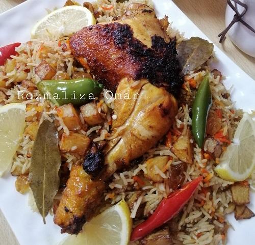 Nasi Kentang Dengan Ayam Goreng Berempah Madu