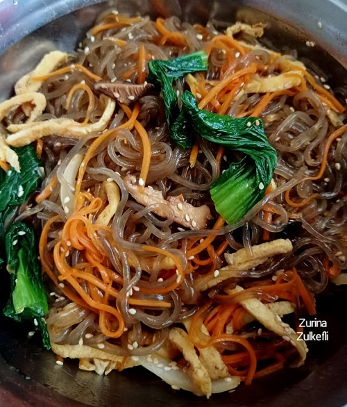 Resepi Makanan Korea Japchae Sedap Banyak Sayuran