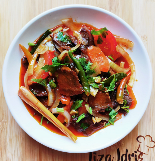 Resepi Daging Merah Ala Thai Tanpa Pewarna