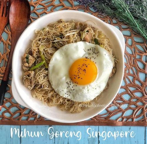 Resepi Mudah Mihun Goreng Singapore