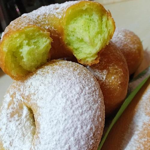 Donut Pandan Mudah Uli Guna Tangan