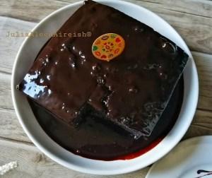 kek-coklat-moist-kukus-dengan-coklat-ganache
