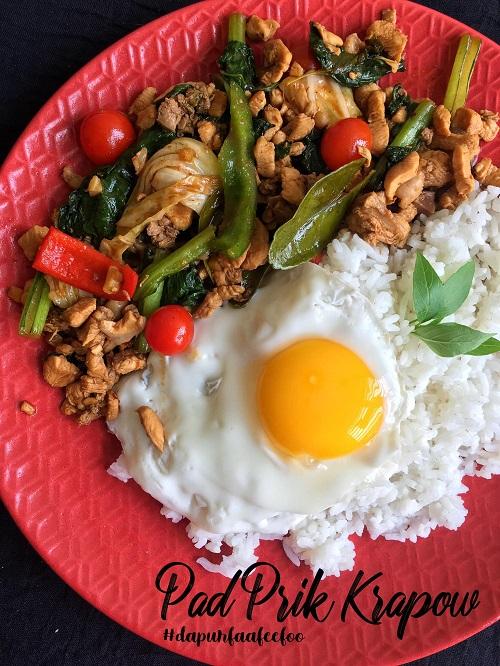 Resepi Masakan Thai Pad Prik Krapow