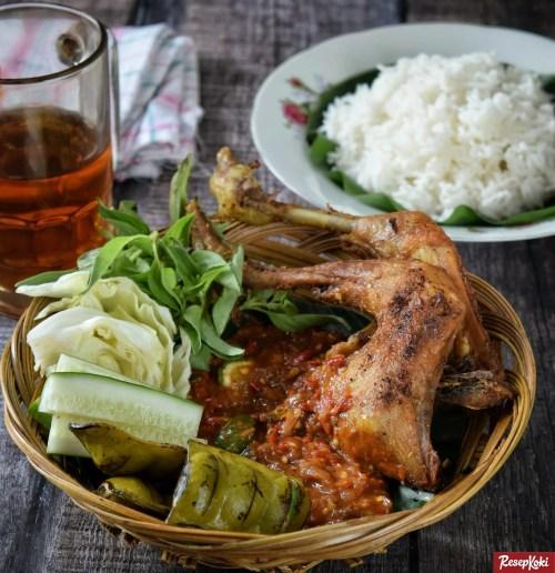 Gambar Hasil Membuat Resep Pecel Ayam