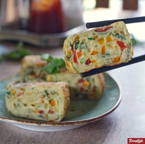 Gambar Hasil Membuat Resep Egg Roll Korea