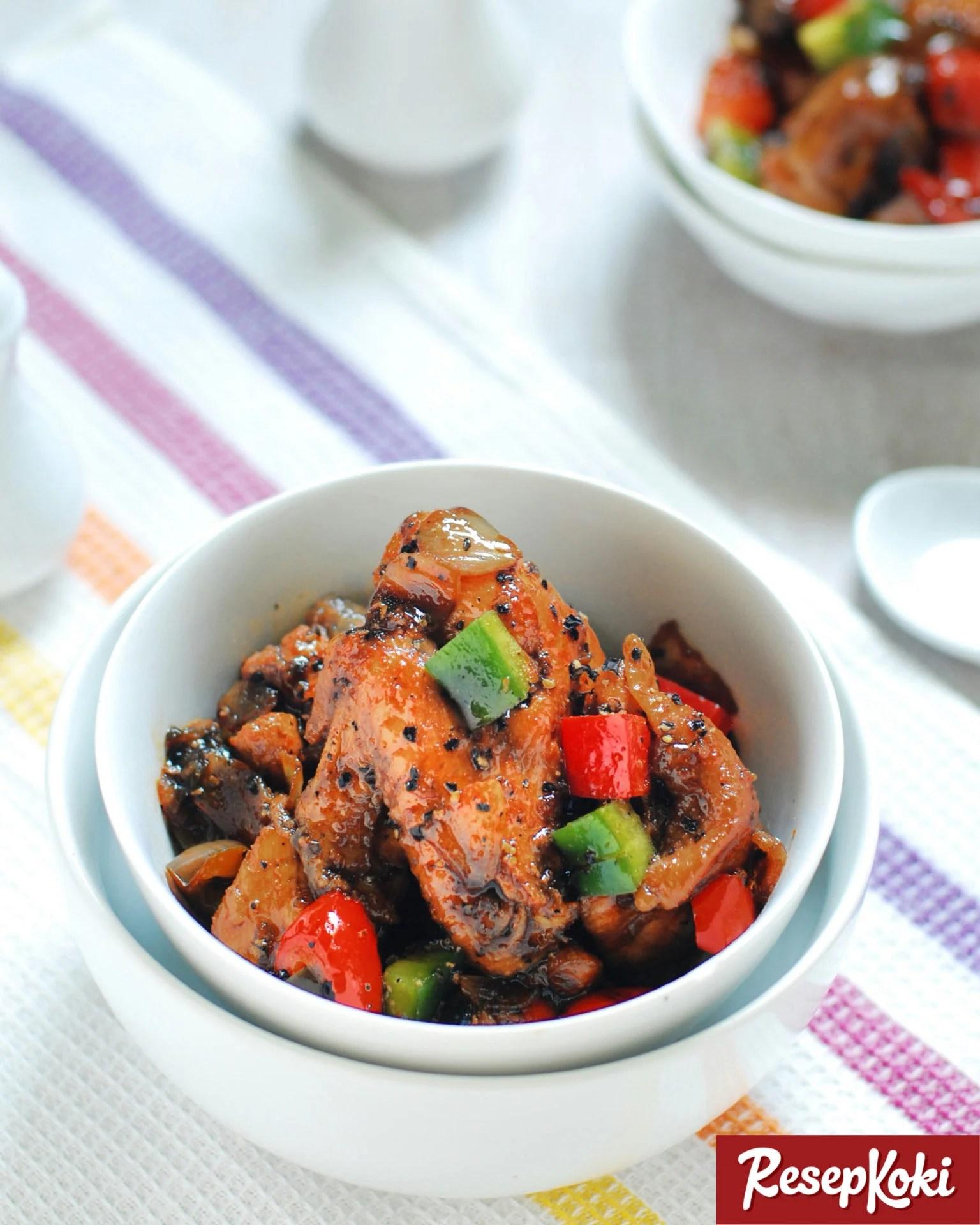 Resep Ayam Lada Hitam : resep, hitam, Hitam, Pedas, Istimewa, Resep, ResepKoki