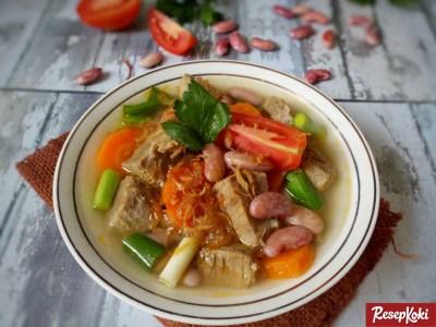 Gambar Hasil Membuat Resep Sup Kacang Merah Daging Sapi