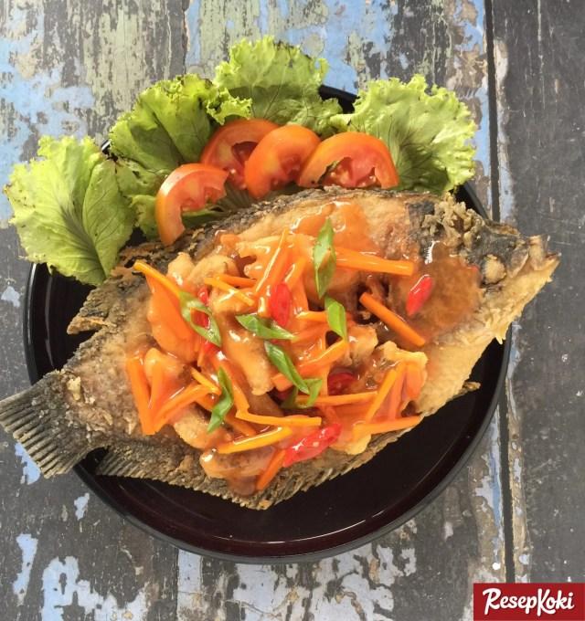 Gambar Hasil Membuat Resep Ikan Gurame Asam Manis