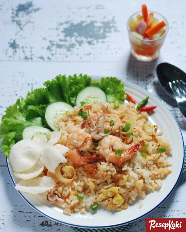 Gambar Hasil Membuat Resep Nasi Goreng Seafood