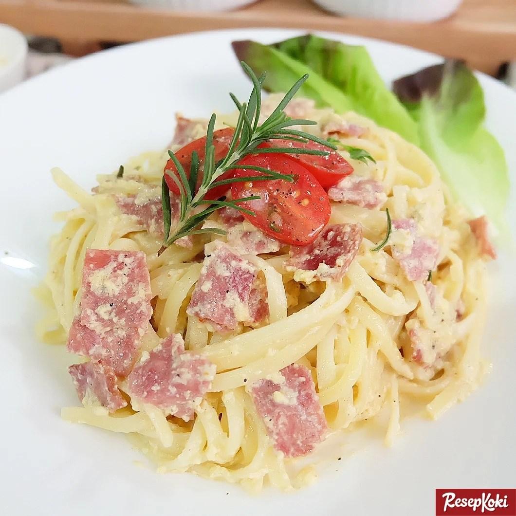 Fettucini Carbonara Gurih Dan Creamy Resep Resepkoki