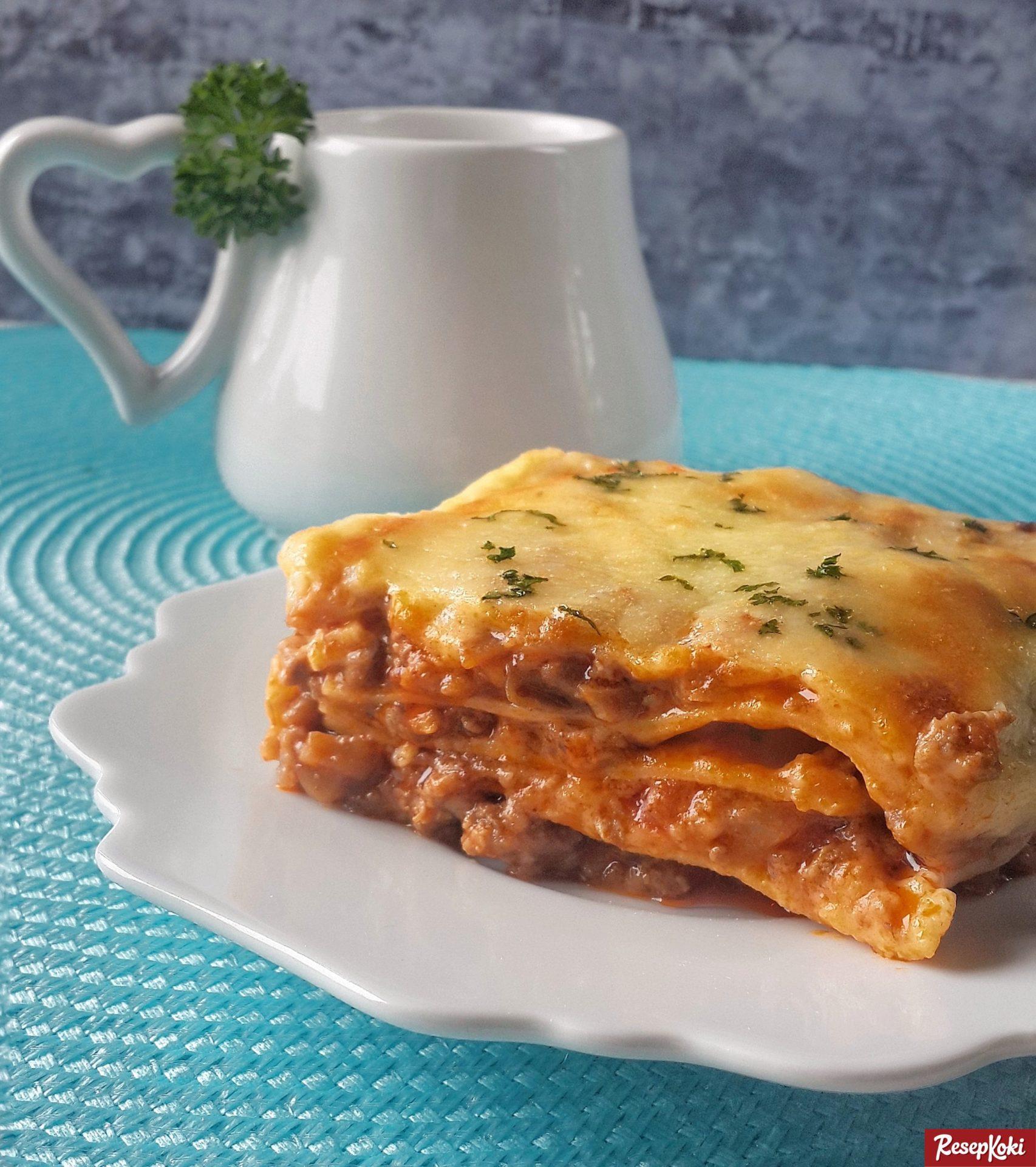 Lasagna Lezat Dengan Keju Lumer Menggiurkan Resep Resepkoki