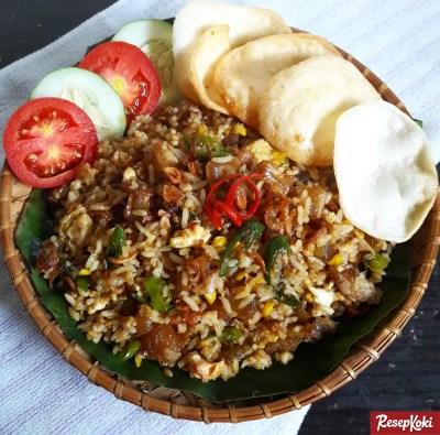 Gambar Hasil Membuat Resep Nasi Goreng Kikil Cabe Hijau
