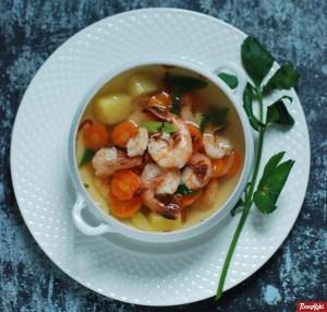 sup udang bening