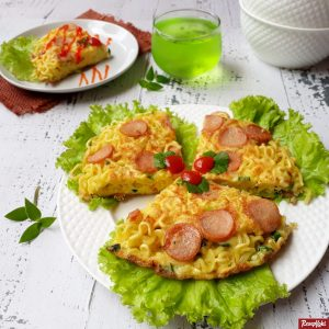 Omelet mie garing