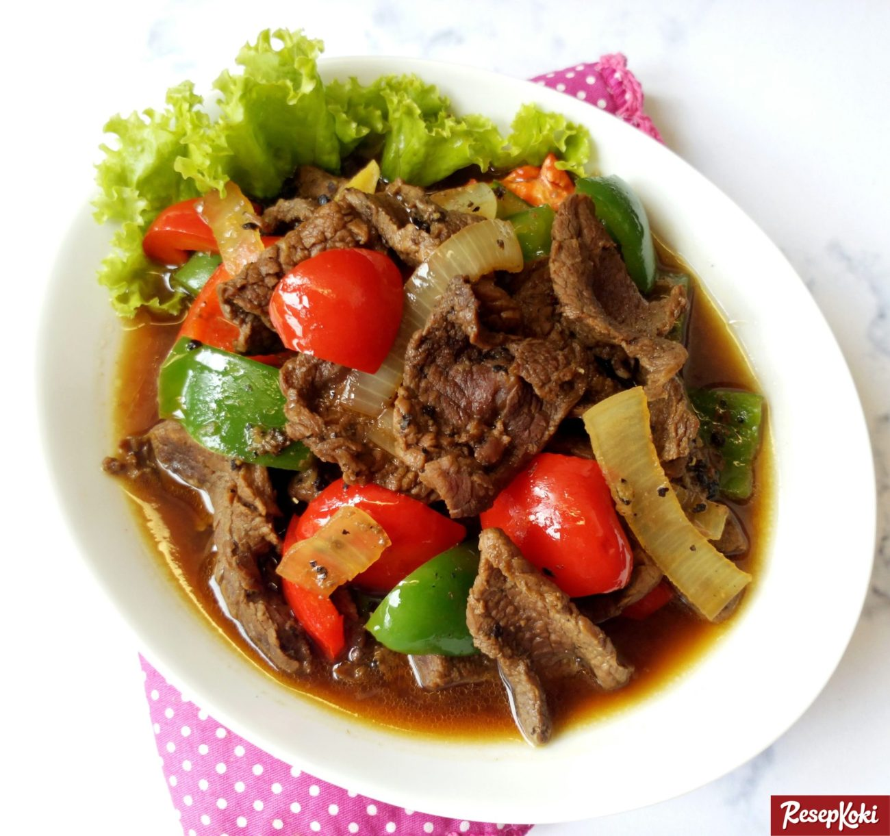 Resep Daging Sapi Paprika Lada Hitam