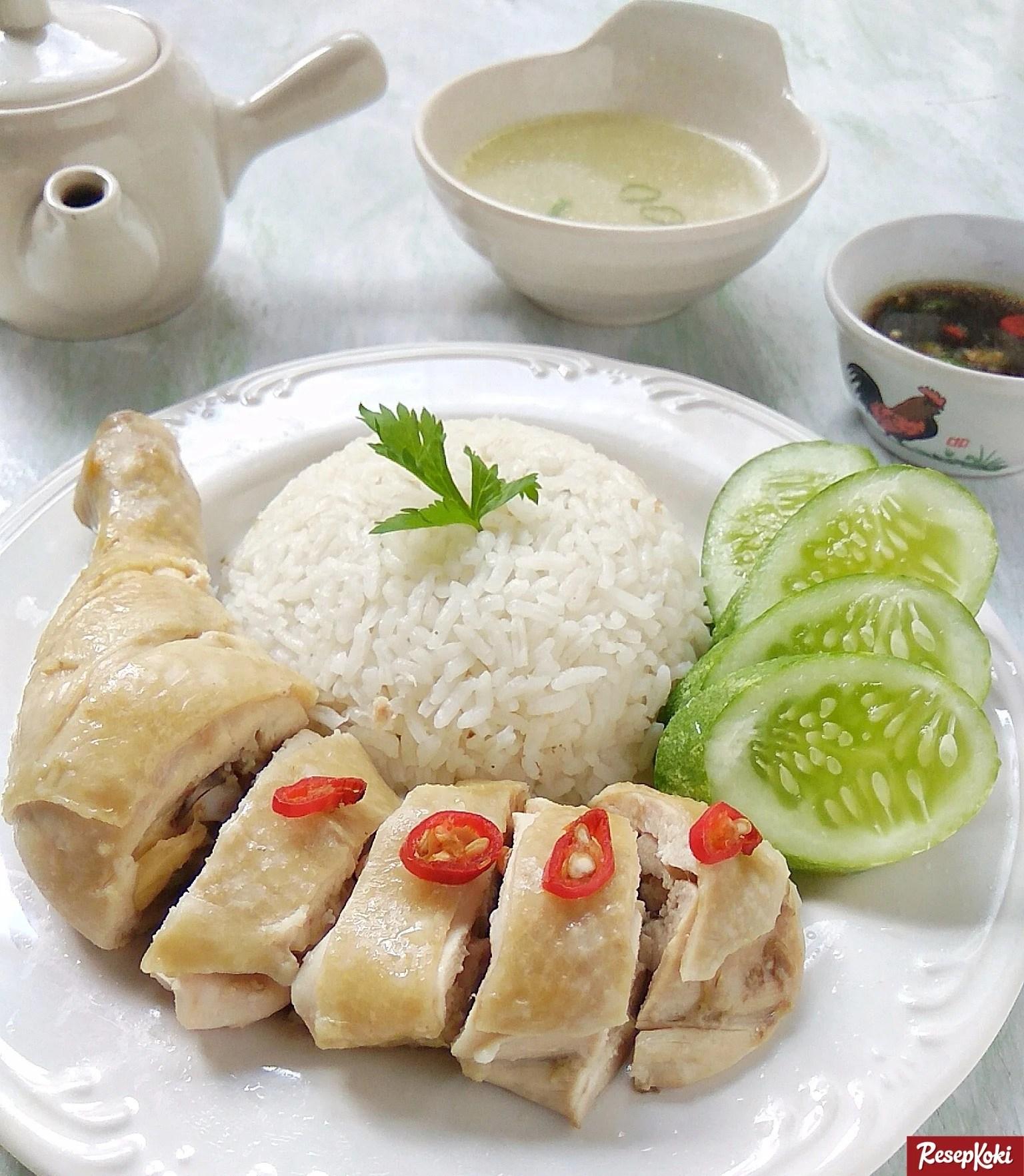 Nasi Ayam Hainan Spesial Lezat Praktis Resep Resepkoki