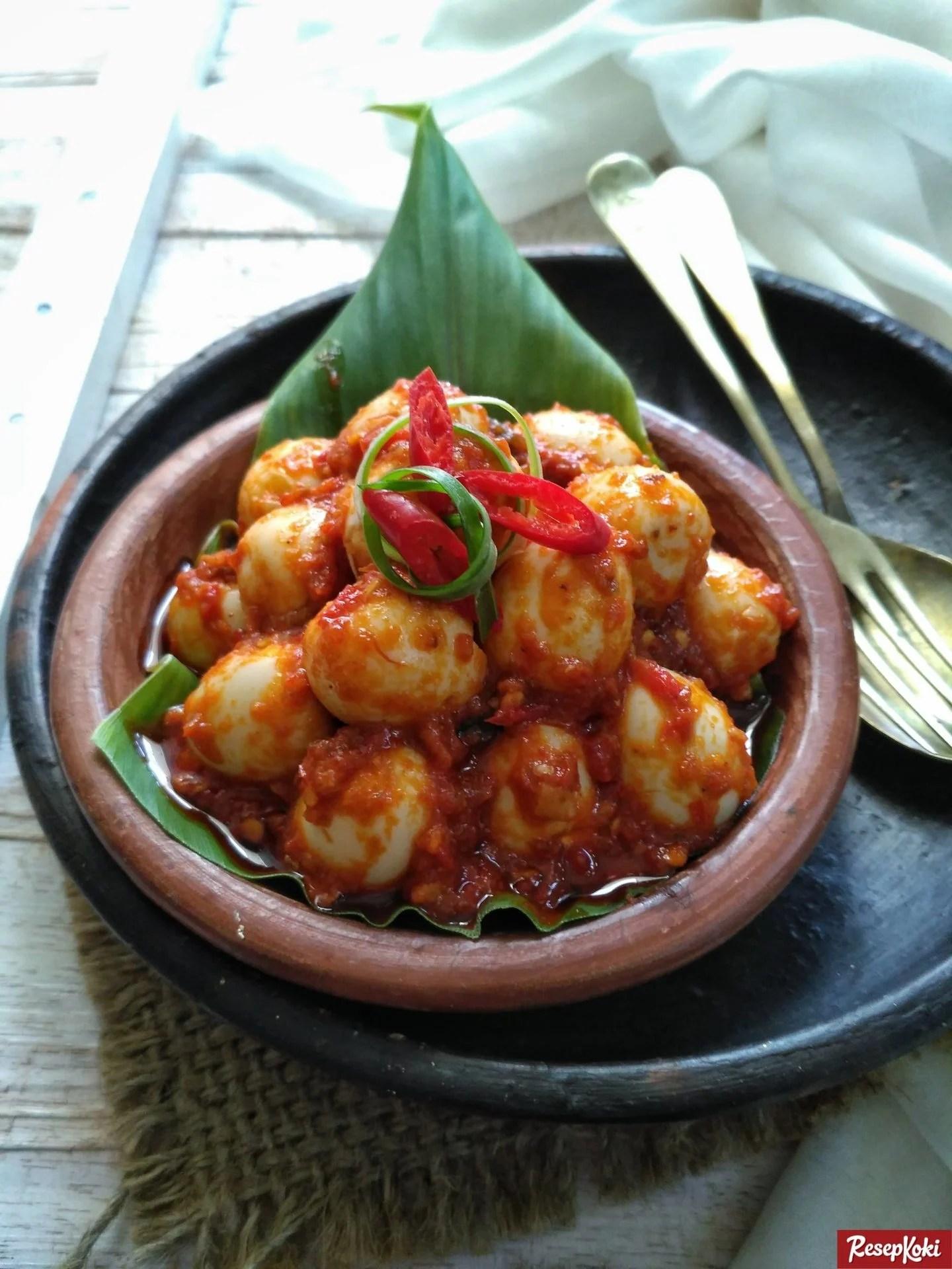 Resep Masak Telur Balado : resep, masak, telur, balado, Telur, Puyuh, Balado, Pedas, Lezat, Resep, ResepKoki