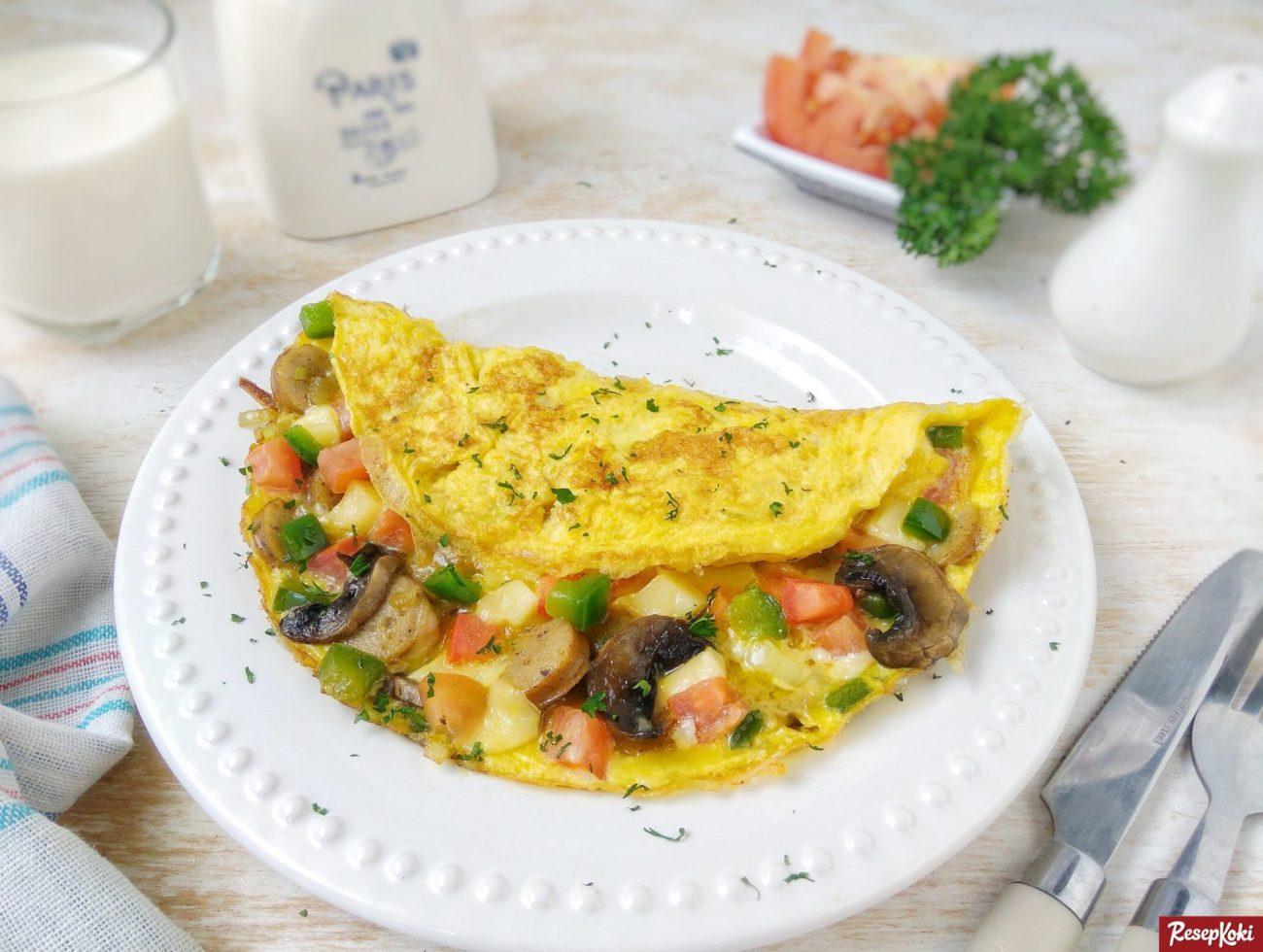 Omelet telur enak