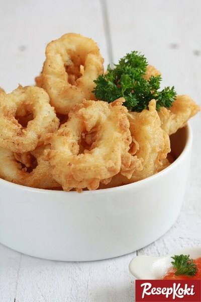 Gambar Hasil Membuat Resep Cumi Goreng Tepung (Calamari)