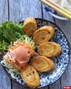 egg chicken roll ala hokben