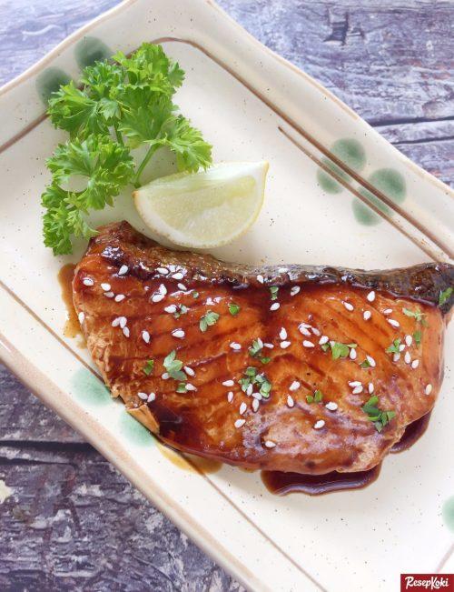 Gambar Hasil Membuat Resep Salmon Teriyaki