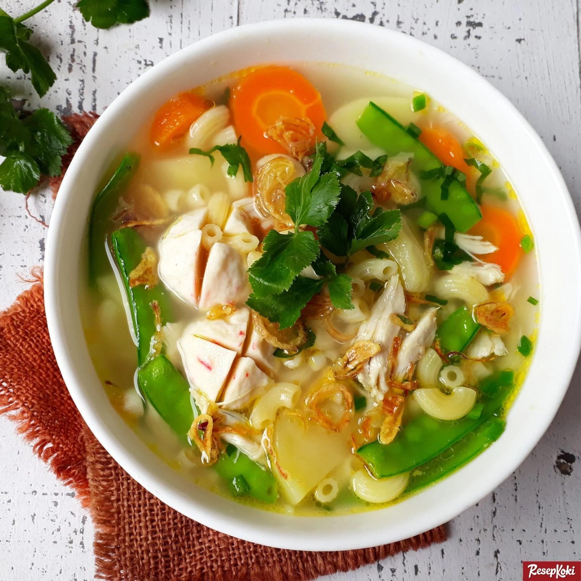 Sup Makaroni Gurih Praktis Lezat - Resep | ResepKoki