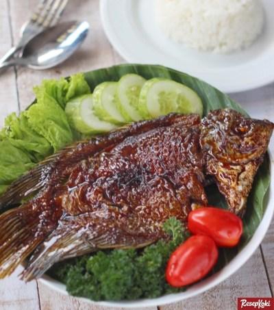 Gambar Hasil Membuat Resep Ikan Gurame Bakar Madu