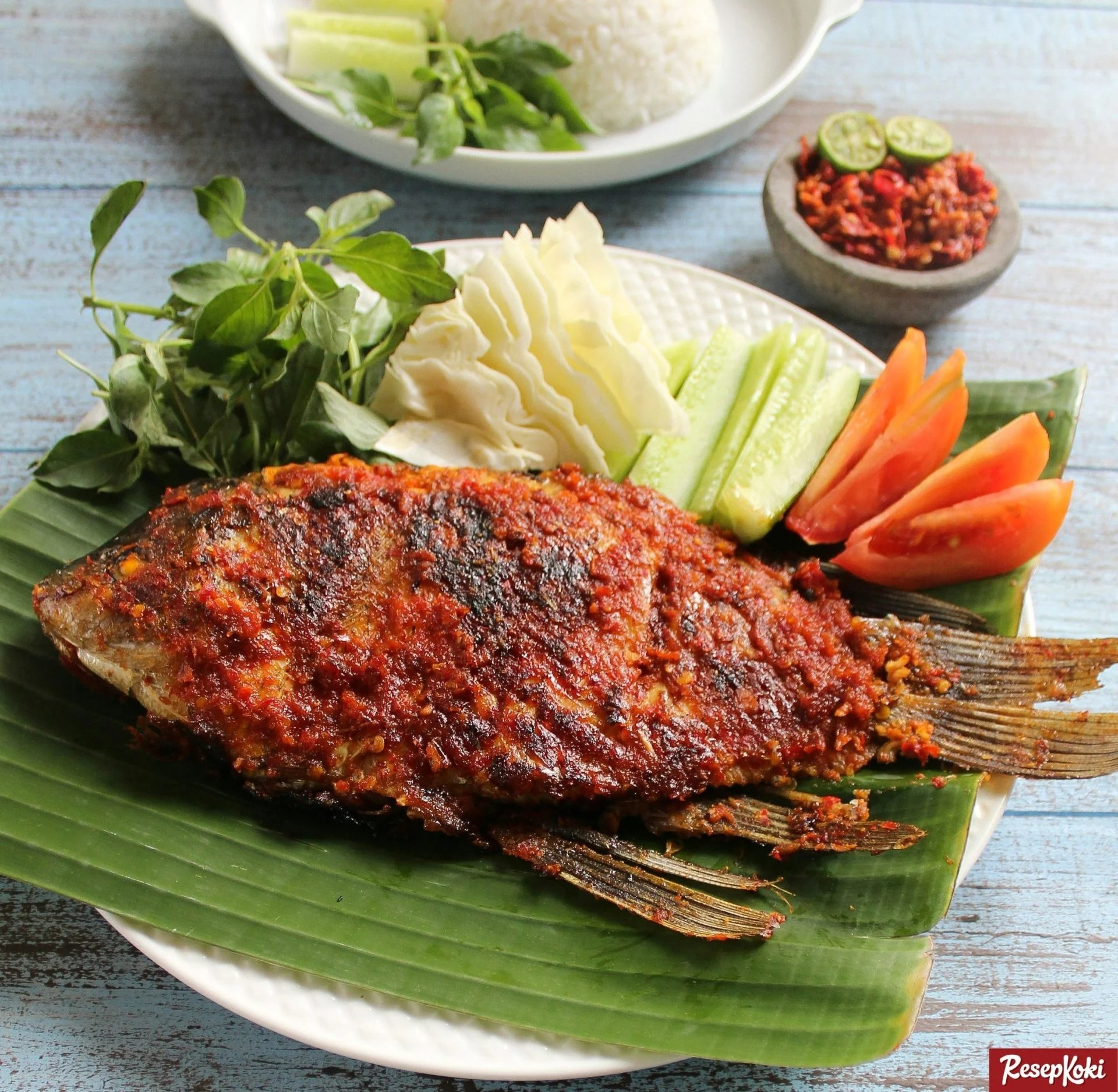 Ikan Gurame Bakar Bumbu Bali Pedas Istimewa Resep Resepkoki