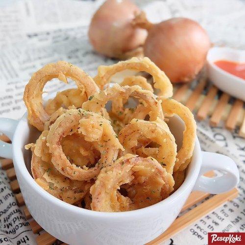 Gambar Hasil Membuat Resep Onion Rings
