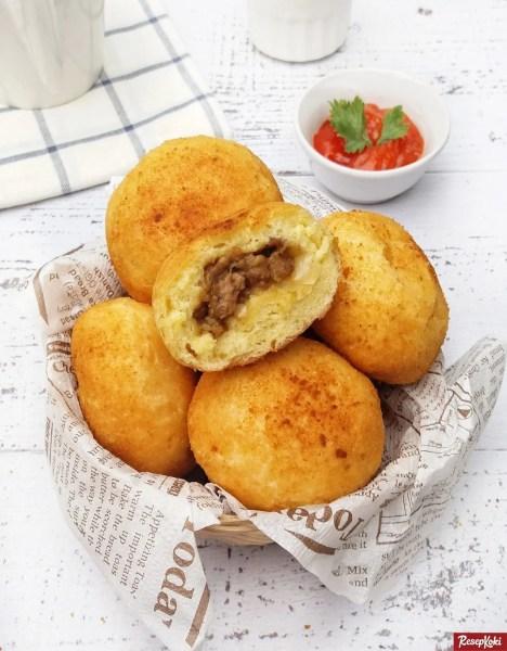 Gambar Hasil Membuat Resep Roti Isi Daging