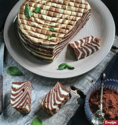 Gambar Hasil Membuat Resep Ogura Cake Zebra