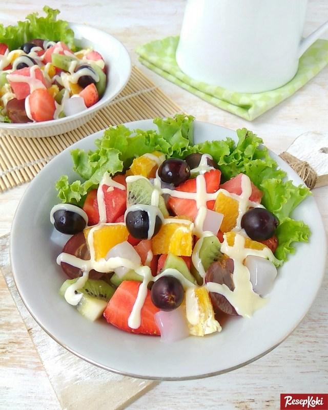 Gambar Hasil Membuat Resep Salad Buah (Fruit)