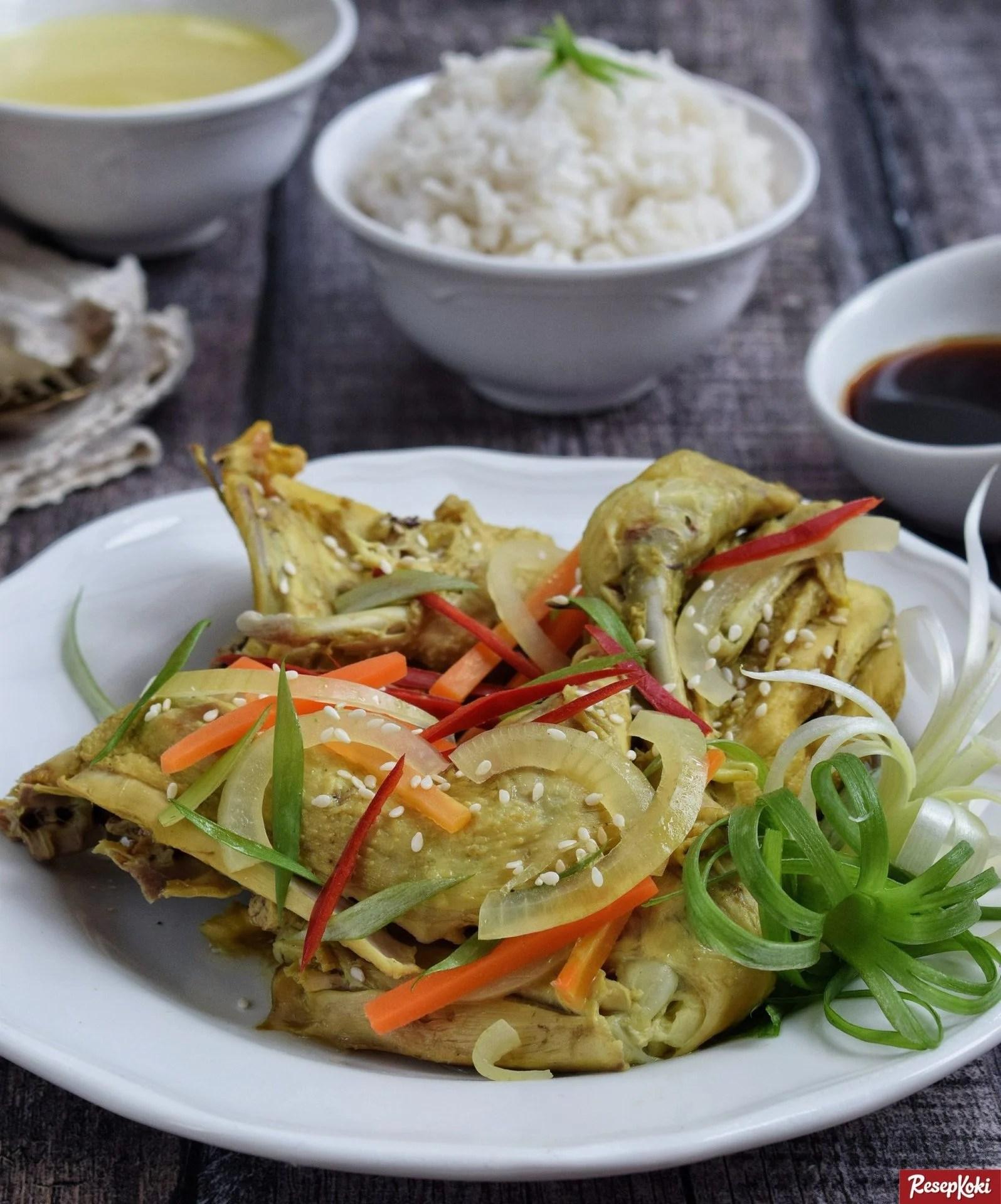 Resep Ayam Kukus : resep, kukus, Rebus, Simpel, Lezat, Berbumbu, Praktis, Resep, ResepKoki