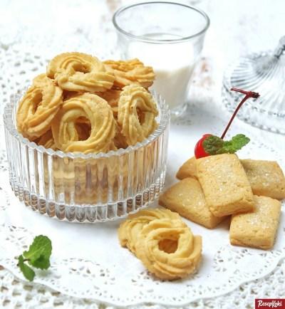 Gambar Hasil Membuat Resep Butter Cookies
