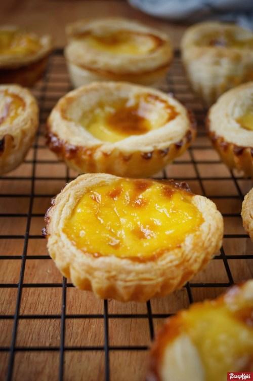Gambar Hasil Membuat Resep Egg Tart Portuguese