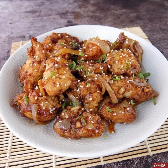Gambar Hasil Membuat Resep Ayam Wijen Saus Mentega