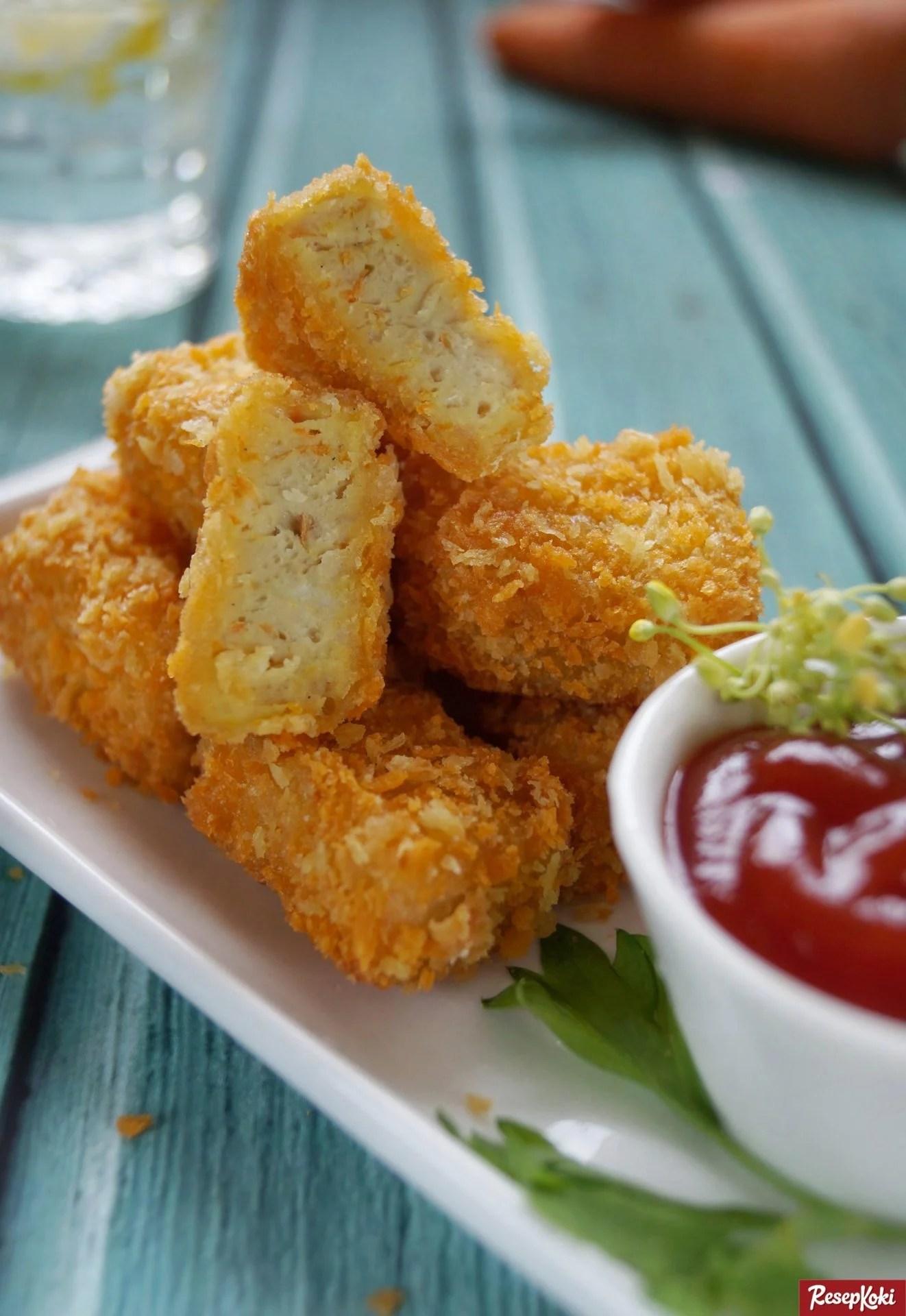 Nugget Ayam Gurih Garing Praktis Resep Resepkoki