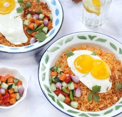 nasi goreng telur praktis