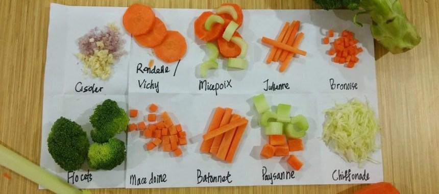 8 Jenis Bentuk Potongan Pada Sayuran