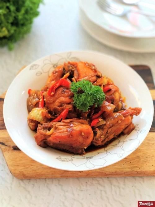 Gambar Hasil Membuat Resep Ayam Kecap Padang