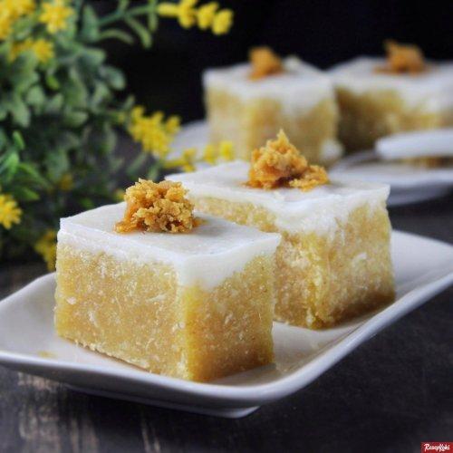 Gambar Hasil Membuat Resep Kue Talam Singkong Gula Merah