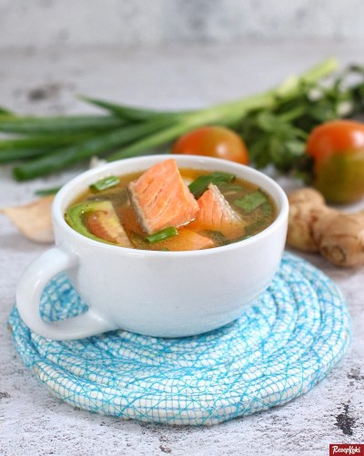 Gambar Hasil Membuat Resep Sop Ikan Salmon