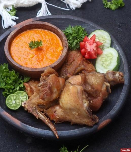 Gambar Hasil Membuat Resep Ayam Goreng Sasando