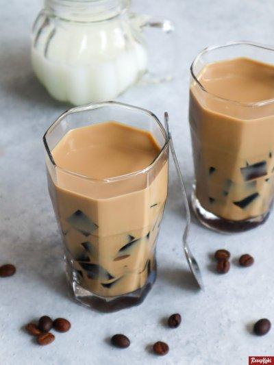 Gambar Hasil Membuat Resep Coffee Jelly
