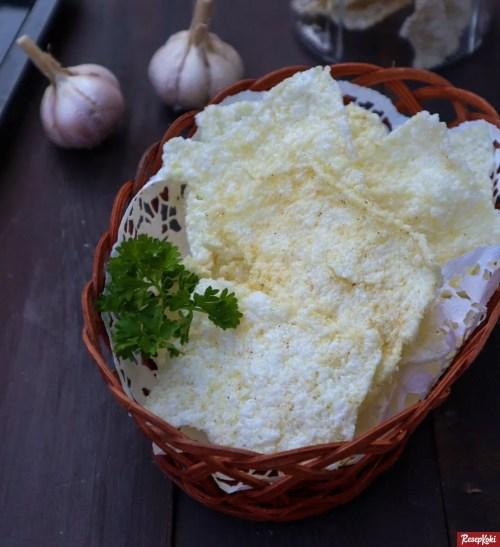 Gambar Hasil Membuat Resep Kerupuk Nasi