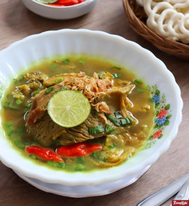 Gambar Hasil Membuat Resep Soto Daging Sapi Madura