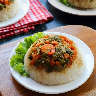nasi tim sayuran sehat