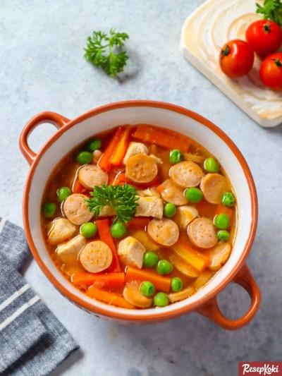 Gambar Hasil Membuat Resep Sup Merah