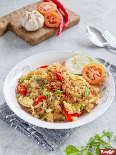 Gambar Hasil Membuat Resep Nasi Goreng Shirataki